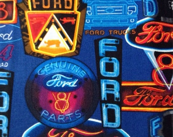 Ford Trucks Neon Signs Fabric By The Yard FBTY