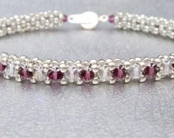 swavorski crystal bracelet sterling silver beadwork