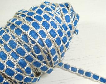 Vintage Blue White Trim, Narrow, Sewing, Crafting  (513-14)
