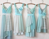 Custom Mint Green Bridesmaids Dresses