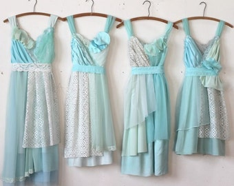 Custom Mint Green Bridesmaids Dresses