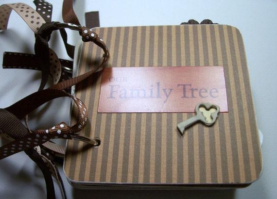 Family Mini Album, Family Scrapbook, Premade Album, Family Memory Book, Family Brag Book, Family Photo Album, Chipboard Album, Family