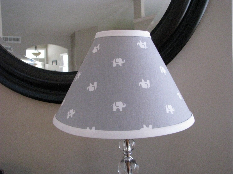 grey elephant lamp shade. Black Bedroom Furniture Sets. Home Design Ideas