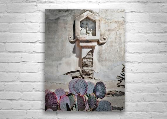 Tucson Architecture Art, Church Art, San Xavier, Arizona Spanish Missions, Southwestern Art, Crucifix, Jesus, Arizona, Christ, Catholic
