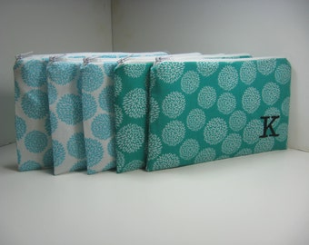 Set of 13 Medium Makeup Bags, Personalized, Monogrammed Bridesmaid Gift,  Survival Kit Pouch, Your Choice, Made to order