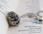 Bashful Hippo Necklace | Hippopotamus Necklace | Pewter Hippo Charm Necklace
