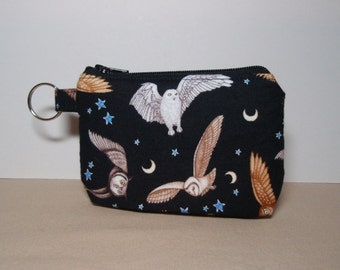 Night Owls Zipper Pouch - Small Coin Purse or Dice Bag