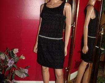 Vintage Black  Lace  Dress Flapper  does 20-30s Theme  Tea Party