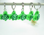 Mini Green Turtle Stitch Marker (Set of 5)