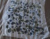 Vintage  60's Christian Dior  Large Silk Panne Velvet Crushed Velvet Scarf