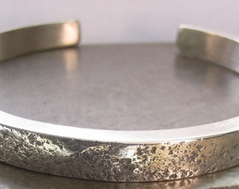 BIG Man Up Cuff/Sterling Silver Bracelet