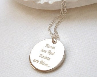 Roses Are Red Love Token Necklace