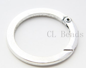 One Piece of Oxidized Silver Tone Base Metal Round Spring Clasp - 49mm (48Y-T-23)