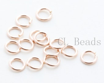 20 Pieces 14K Rose Gold Filled Open Jump Rings-Round 4mm (22GA)(1200)