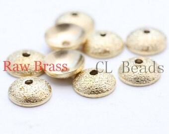 100pcs Raw Brass Bead Caps - Stardust 6mm (1747C-U-32)