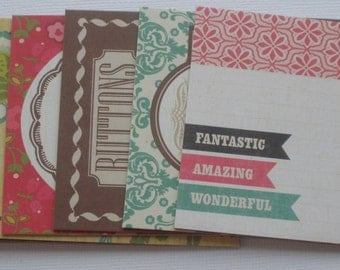 COUNTRY CHARM Chipboard Die Cuts: Journaling Card Quotes & Picture Cards - Distressed