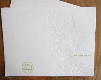 letterpress greeting card simple tasteful sympathy condolences
