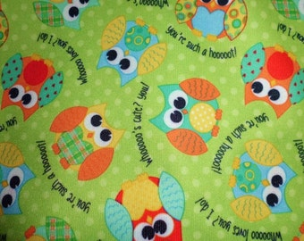 Playful Friends Owls Pul by Babyville Boutique 64 inches wide 1/2 yard