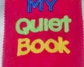 Quiet book add on cover page -  educational game busy bags  quiet books activity book #QB49