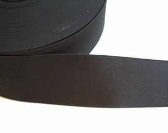 Black Extra Wide Elastic, 3 inch wide- 1 yard