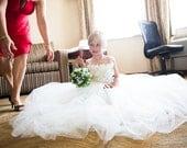 Flower girl dress Ivory tutu dress, flower top, baby tutu dress, toddler tutu dress