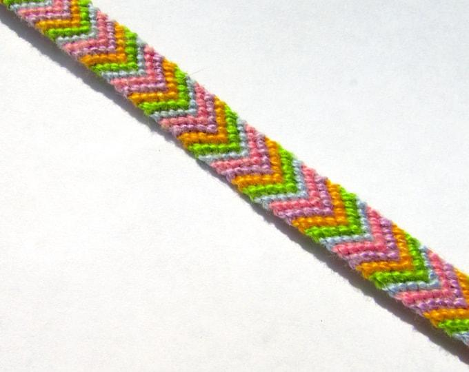 Friendship Bracelet-Pastel Spring Chevron
