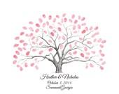 Fingerprint / Thumbprint Tree Guestbook Alternative Wedding Tree / Family Tree / Anniversary Tree / First Communion Tree
