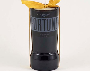 Upcycled Candle Fortune Miller Beer Bottle Black Candle Recycled Fortune Gift Beer Drinking Hipster Beer Golden Lager Good Fortune Gift