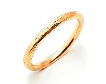Organic Ring Gold 14K (yellow, rose or white)