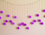 Wedding Garland DIY Orchid Tissue Paper Flower  Kit, Photography Prop, Orchid Birthday Party Decoration, Pom Poms Garland