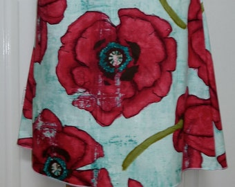A-line SKIRT - Laura Gunn - Poppy - Made in ANY Size - Boutique Mia