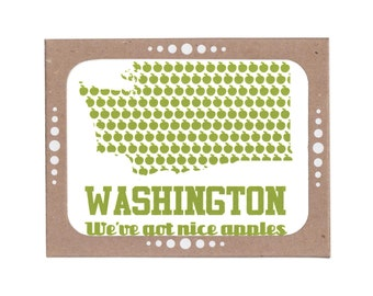 Boxed Set of Six Washington: We've Got Nice Apples Cards