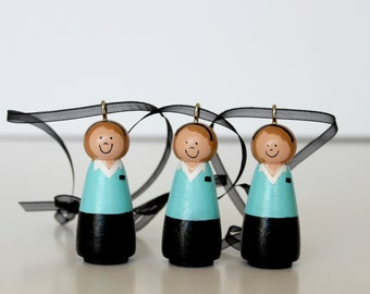 THREE Custom LDS Sister Missionary Ornaments