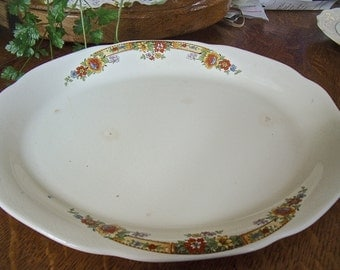 "PLATTER-""Illinois China Company""-Lincoln,Illinois-12"" x 8 1/2""-so PreTTy-very old"