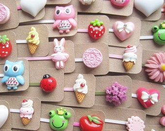 SUPER CUTE PROMO : Party Pack of 5 x Kawaii Hair Clips