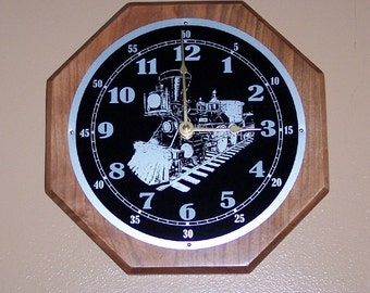 Clock with a Train Dial