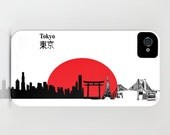 Tokyo City Skyline on Phone Case -  iPhone 5S  Samsung Galaxy iPhone 5C, iPhone 6S, iPhone 6 Plus