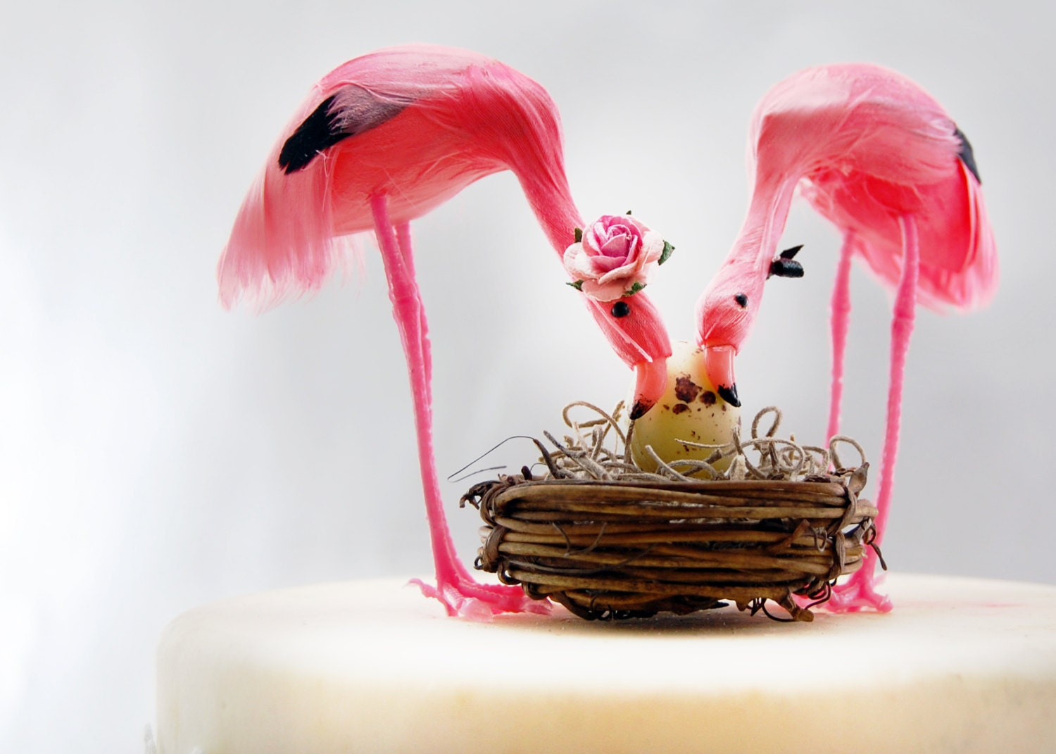 pink flamingo baby shower cake topper tropical mom by lovenesting