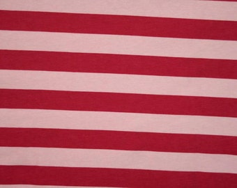 1/2 yard pink fuschia  stripes