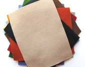 Felt Sheets - Primitive Shades - 100% Merino Wool Felt - Twelve 6 x 8 Inch Sheets - Assortment - DIY Supply