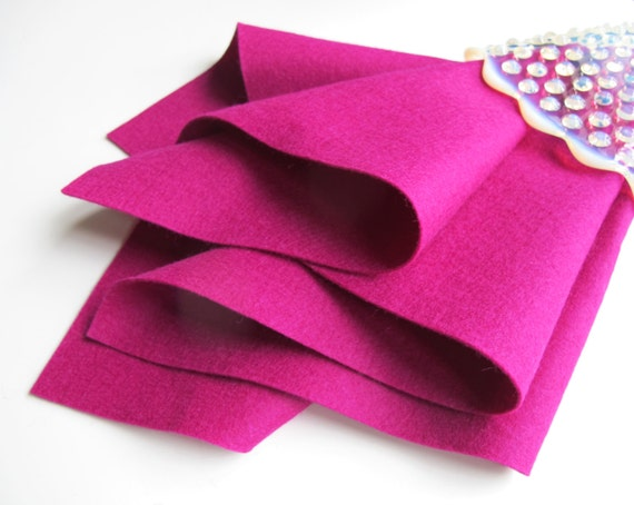 Raspberry, Wool Felt Sheet, Choose Size, 100% Wool, Felted Wool, Toxin Free, Pink Wool Felt, Waldorf Handwork, DIY Craft Supply, Quilt Wool