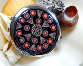 The Mirror and the Tin Collection Queen of Hearts Compact Kaleidoscope Millefiori in Polymer Clay
