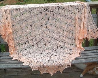 Covington Lace Knit Shawl Pattern