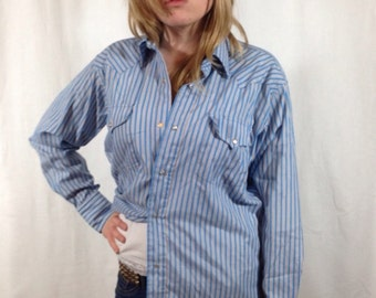 Vintage Striped Western Shirt