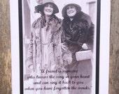 Vintage Girlfriends Print Greeting Card #4