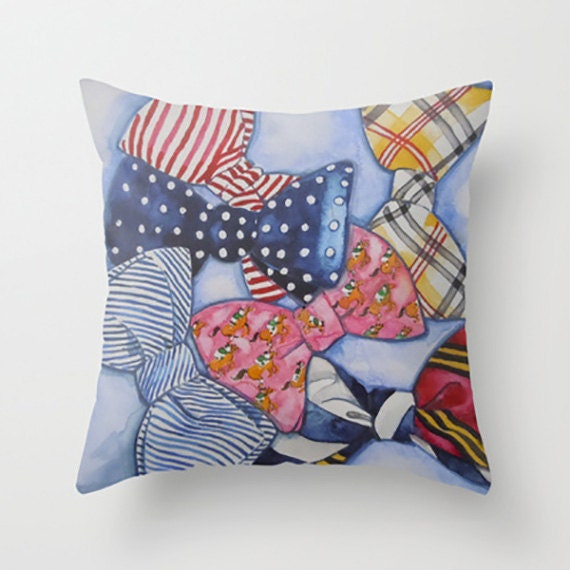 Decorative Pillow With Bow : Bow Tie Pillow Cover-Tie One On Bow Tie Decorative Pillow Bow