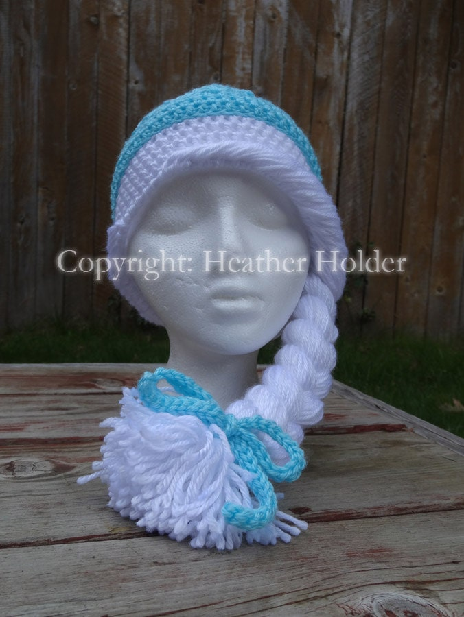 Snap Elsa Of Arendelle Frozen Crocheted Hat Pattern By Hhcrafts