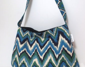Ikat Bag |  Hobo bag  | I kat bag | Sling Bag | Ikat Sling Bag | Blue Ikat bag | ikat Bag - Sale tonight