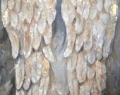 Angel Wings Painting Wings of Gold and Silver with gold leaf and silver leaf, custom painted just for you Angelwings art, gift for her