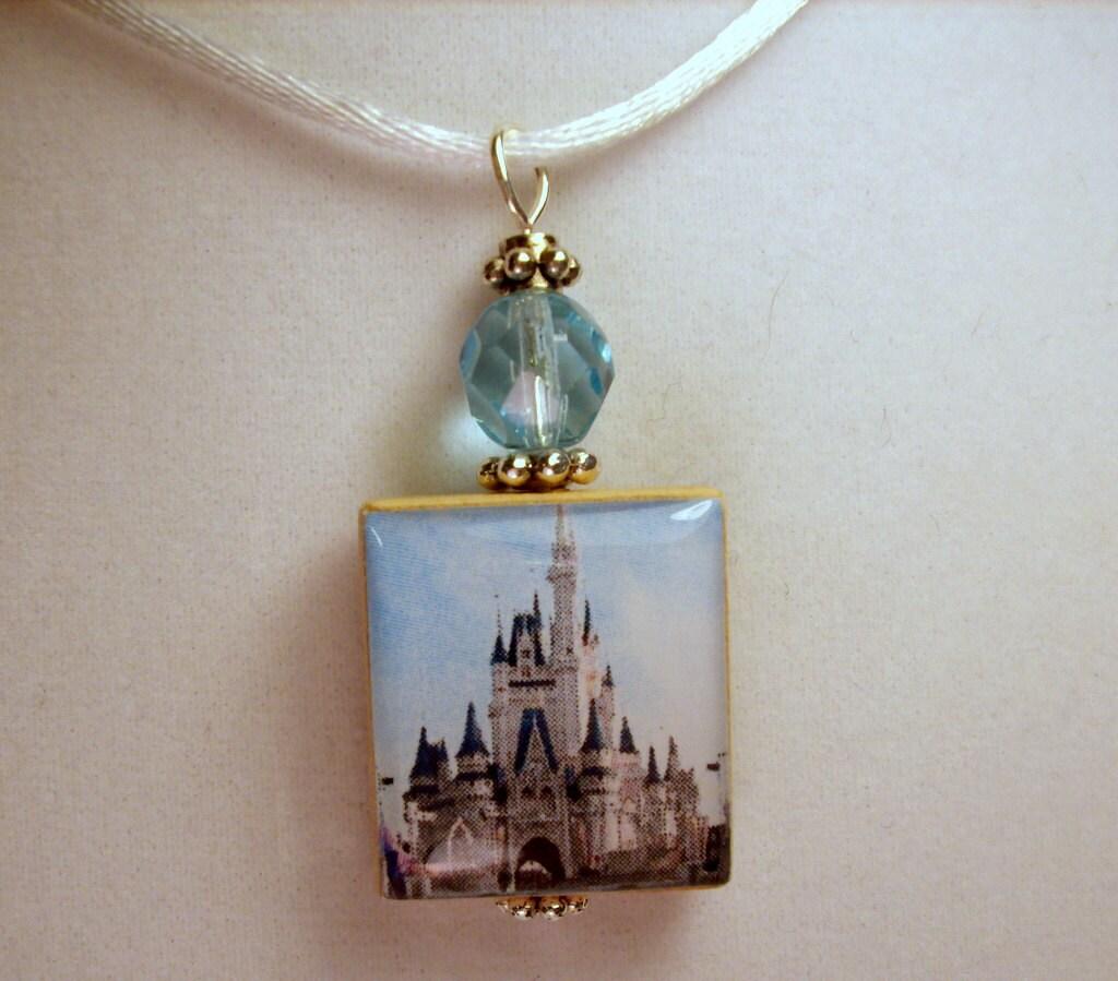 walt disney world jewelry cinderella castle pendant with